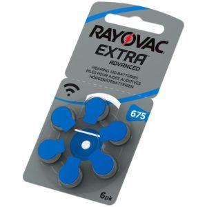Hörapparatsbatterier Rayovac 675/A675/P675