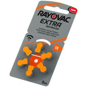 Bild hörapparatsbatteri 13 orange