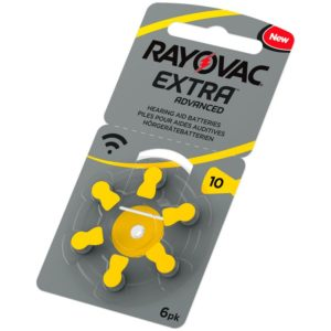 Hörapparatsbatterier Rayovac 10 gul